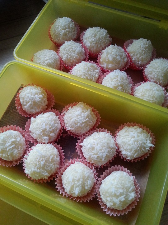 lemon and coconut balls