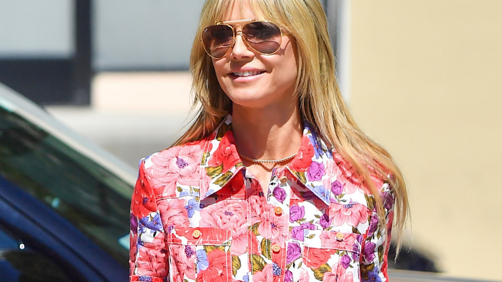 Heidi Klum or how to wear the color of spring